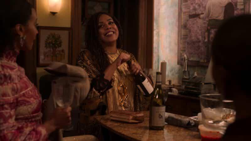 Donda Baptiste (De'Adre Aziza) joking with Sondi