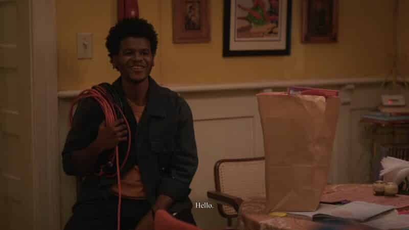 Earl (Benjamin Earn Turner) introducing himself to Ashley
