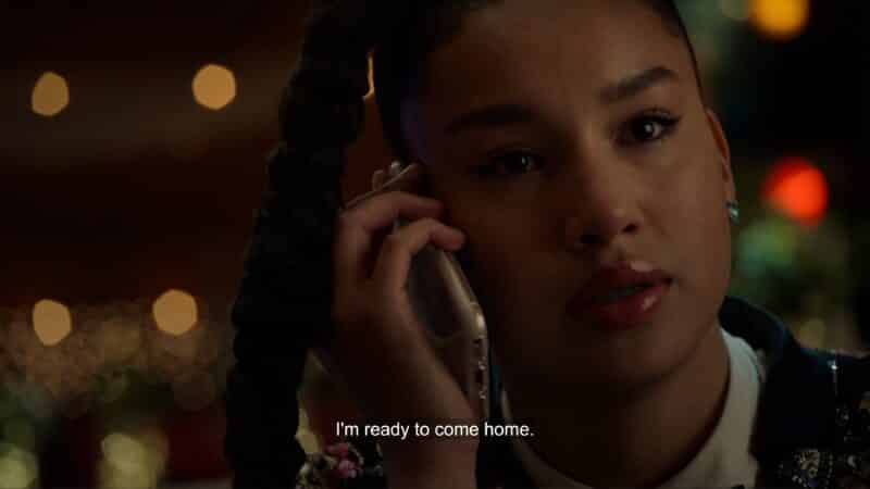 Gina calling her mother, saying she is ready to go home