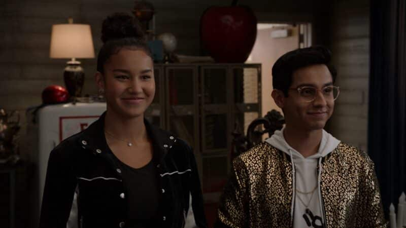 Gina and Carlos putting on smiles despite going back and forth over choreography