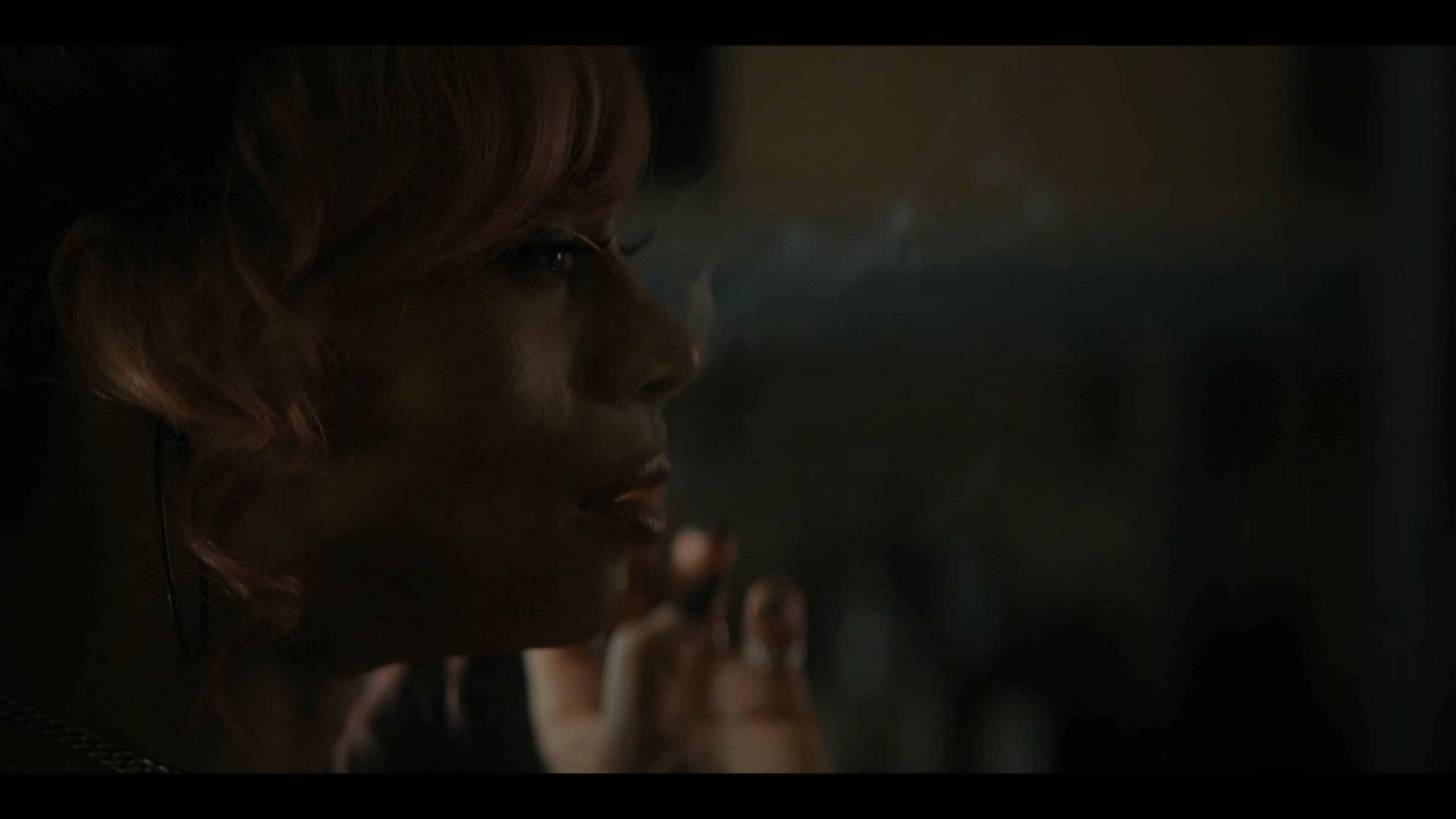 Imani having a cigarette