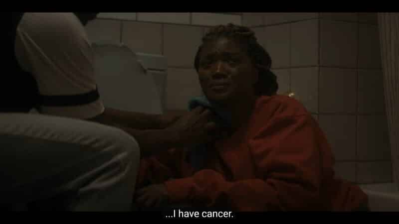 Jada revealing to Emmett that she has cancer