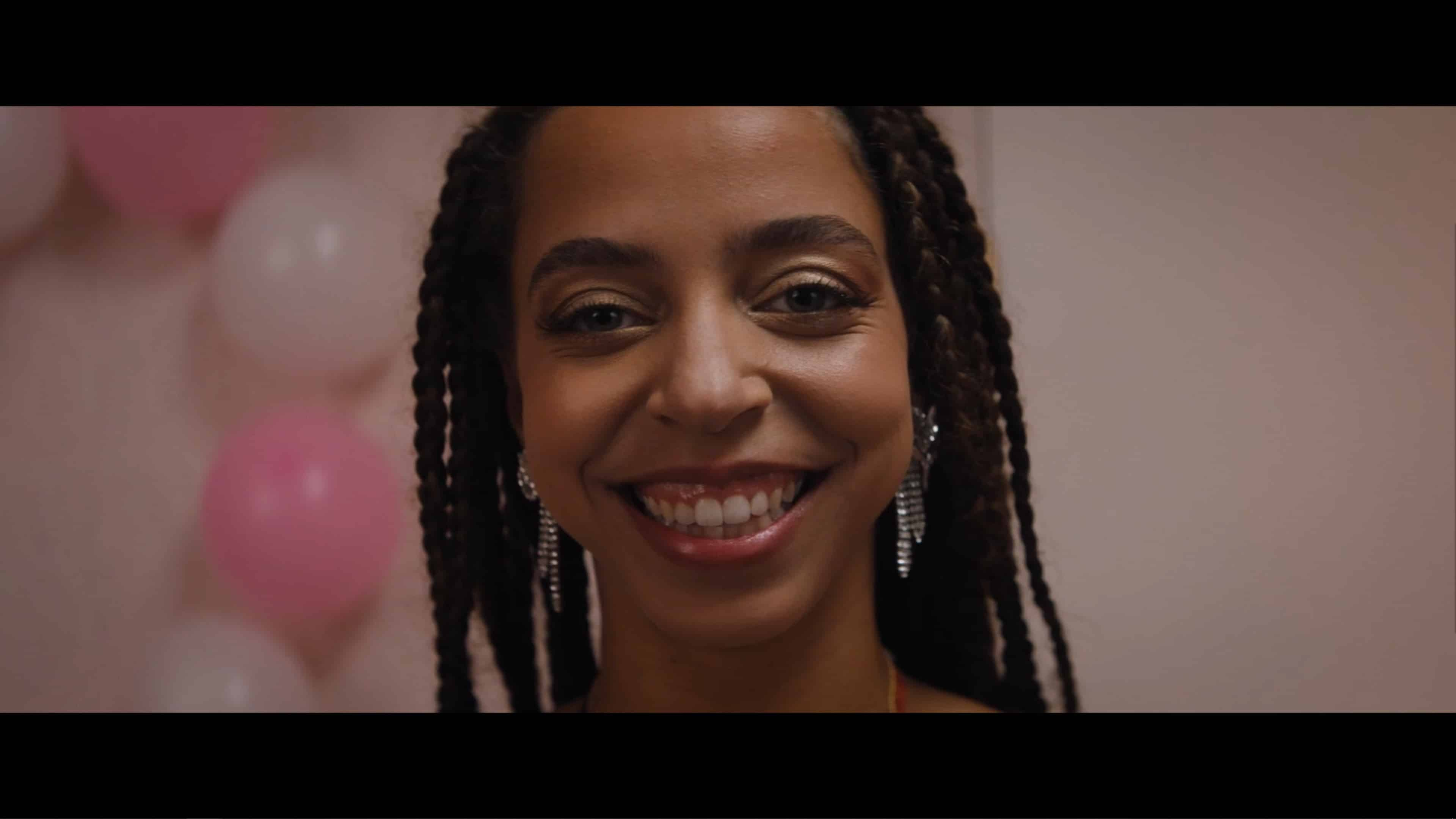 Mary (Hayley Law) smiling