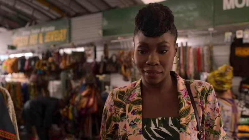 Monife (Tamera Tomakili) with Whitney finding nice fabrics