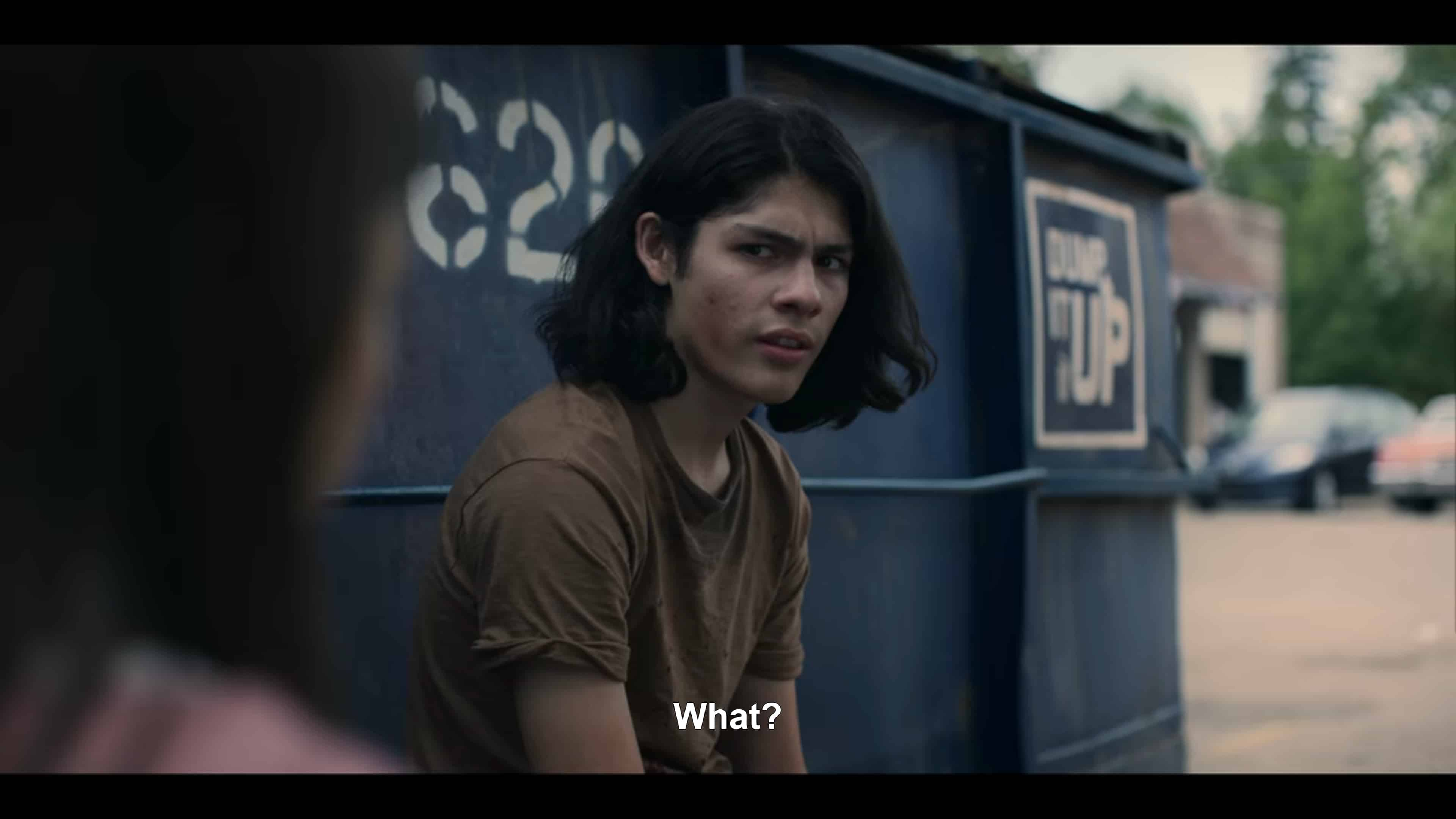 Noah (Lucius Hoyos) talking to Matilda about his ex-girlfriend