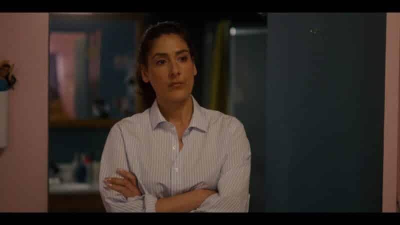 Carol (Alicia Coppola) disappointed that Riley put her business out there