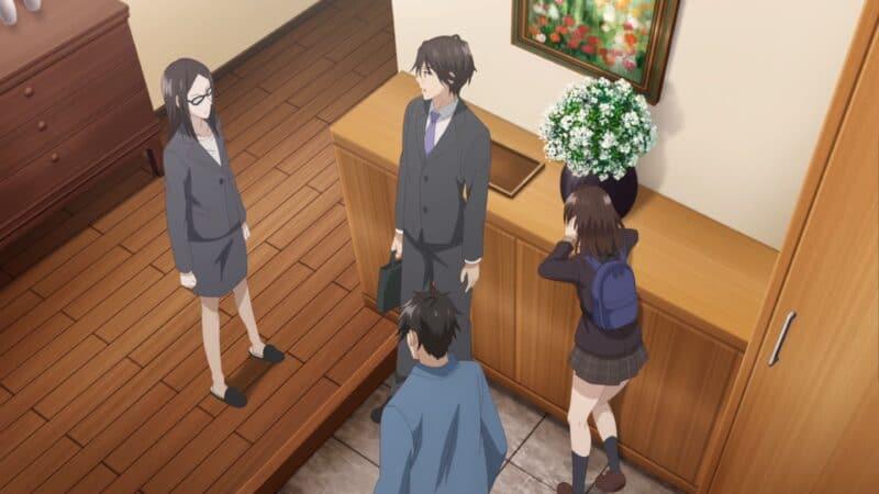 Sayu's Mom, Issa, Yoshia, and Sayu after Sayu's mom smacked the mess out of her