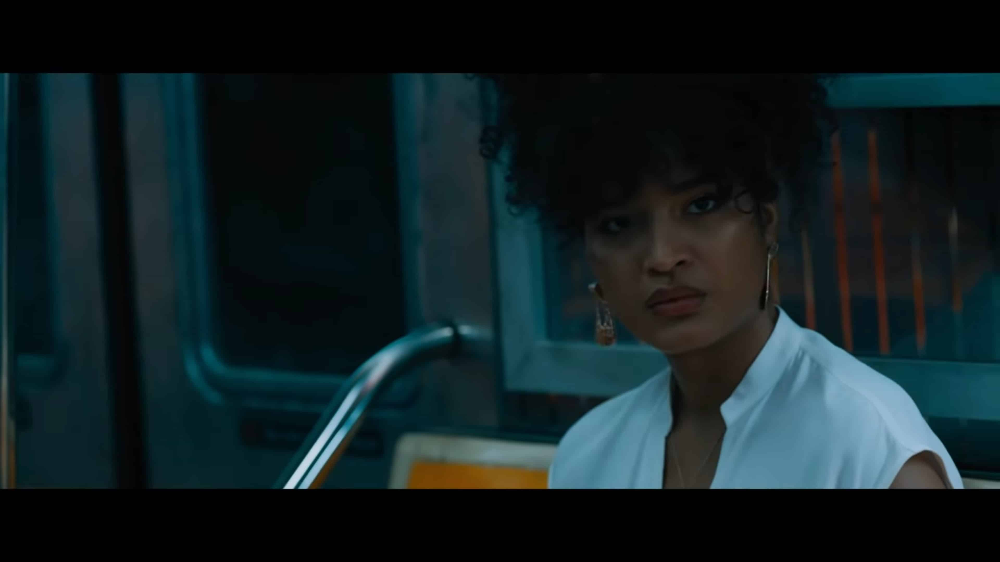Brianna (Indya Moore) in the first escape room