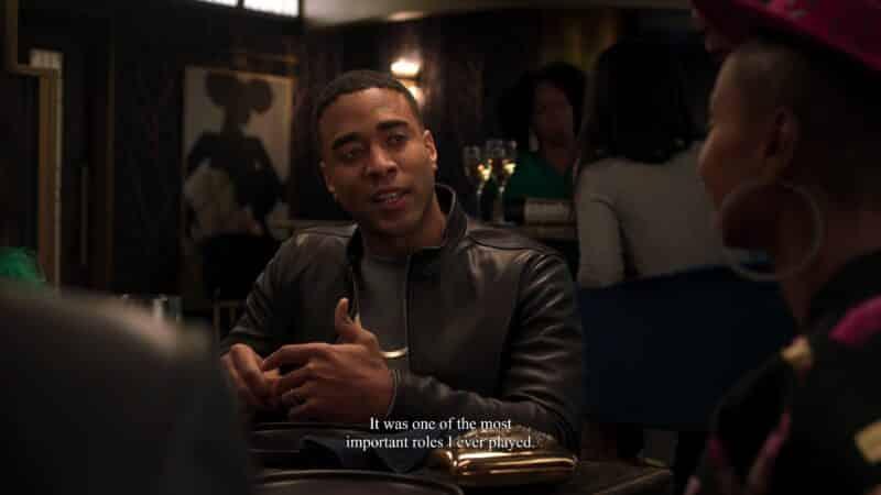 Emmett (Sawandi Wilson) talking about a role he had