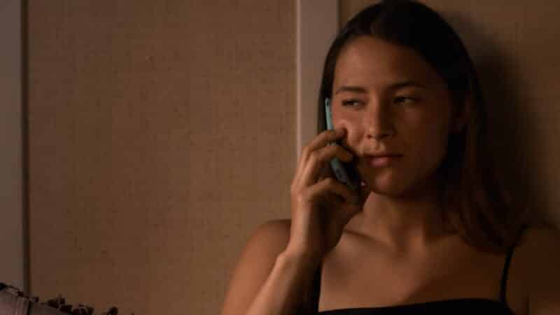 Izzie on the phone with Casey