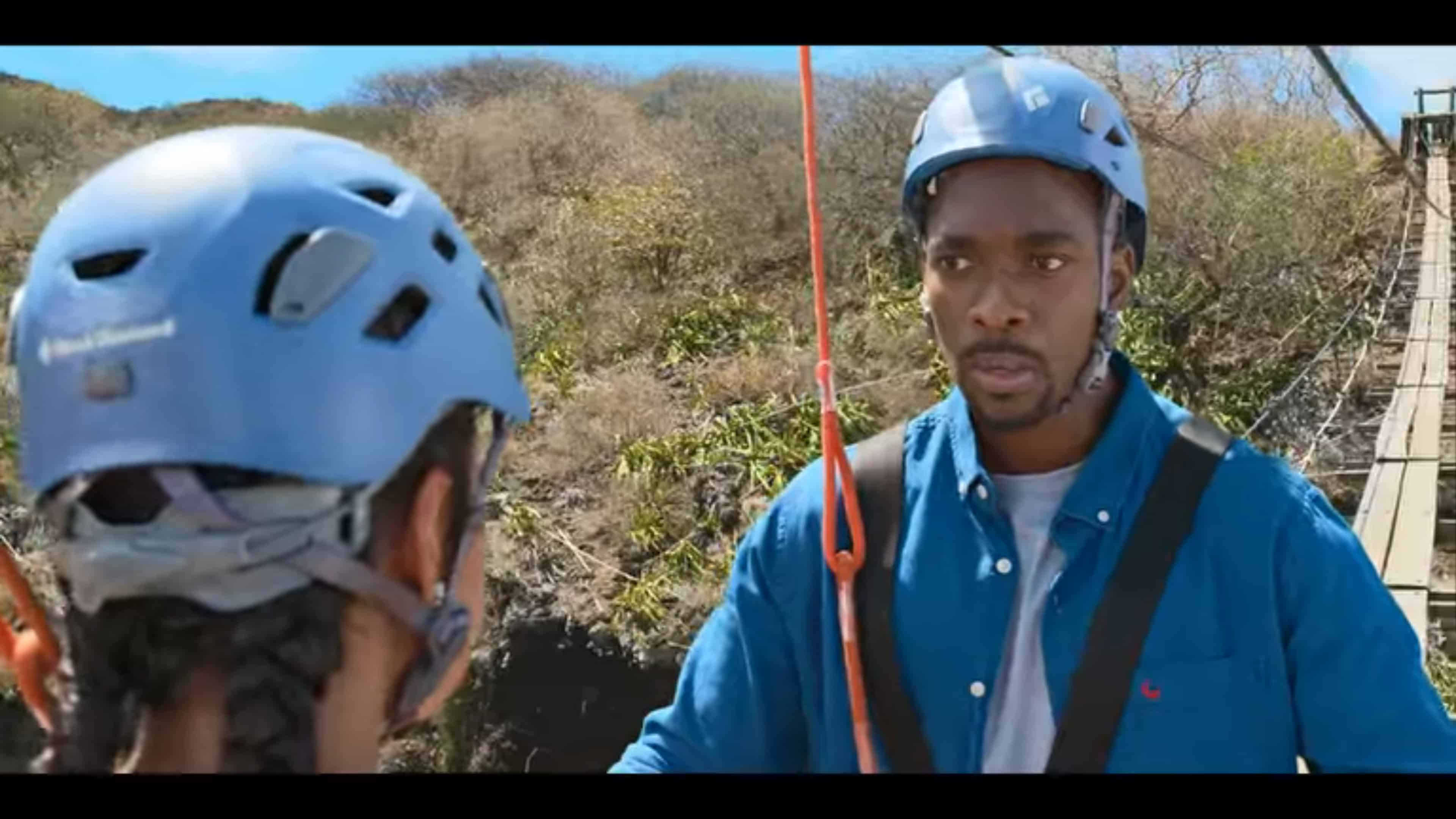 Jason (Jay Pharoah) dealing with his fears of heights
