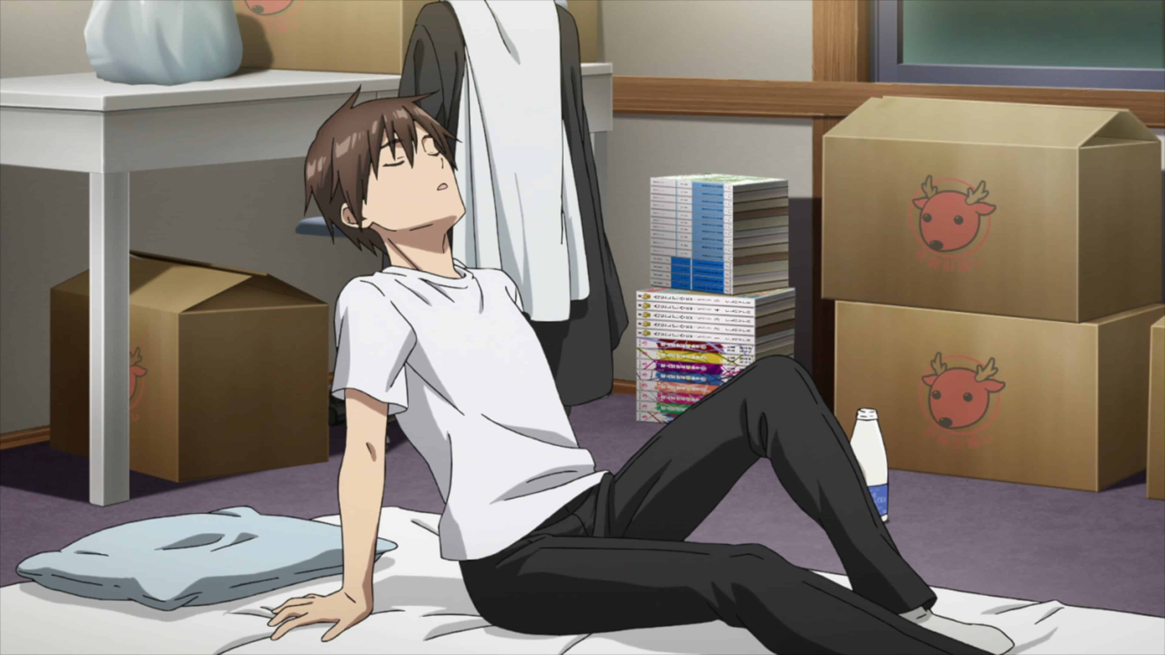 Kyoya (Masahiro Itou) before going to bed.