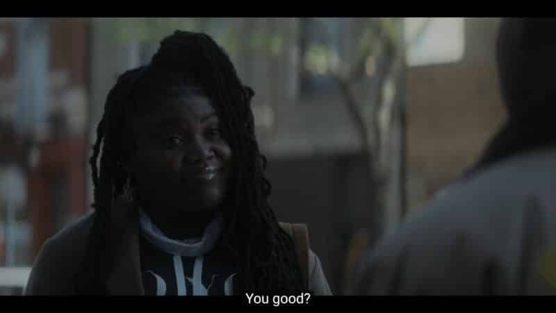 Lynae (Zaria Imani Primer) asking if Kevin is good