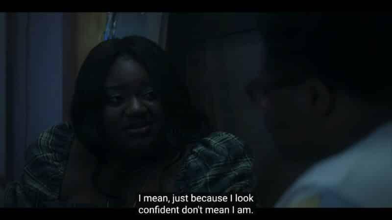 Maisha noting she has moments when she isn't confidant