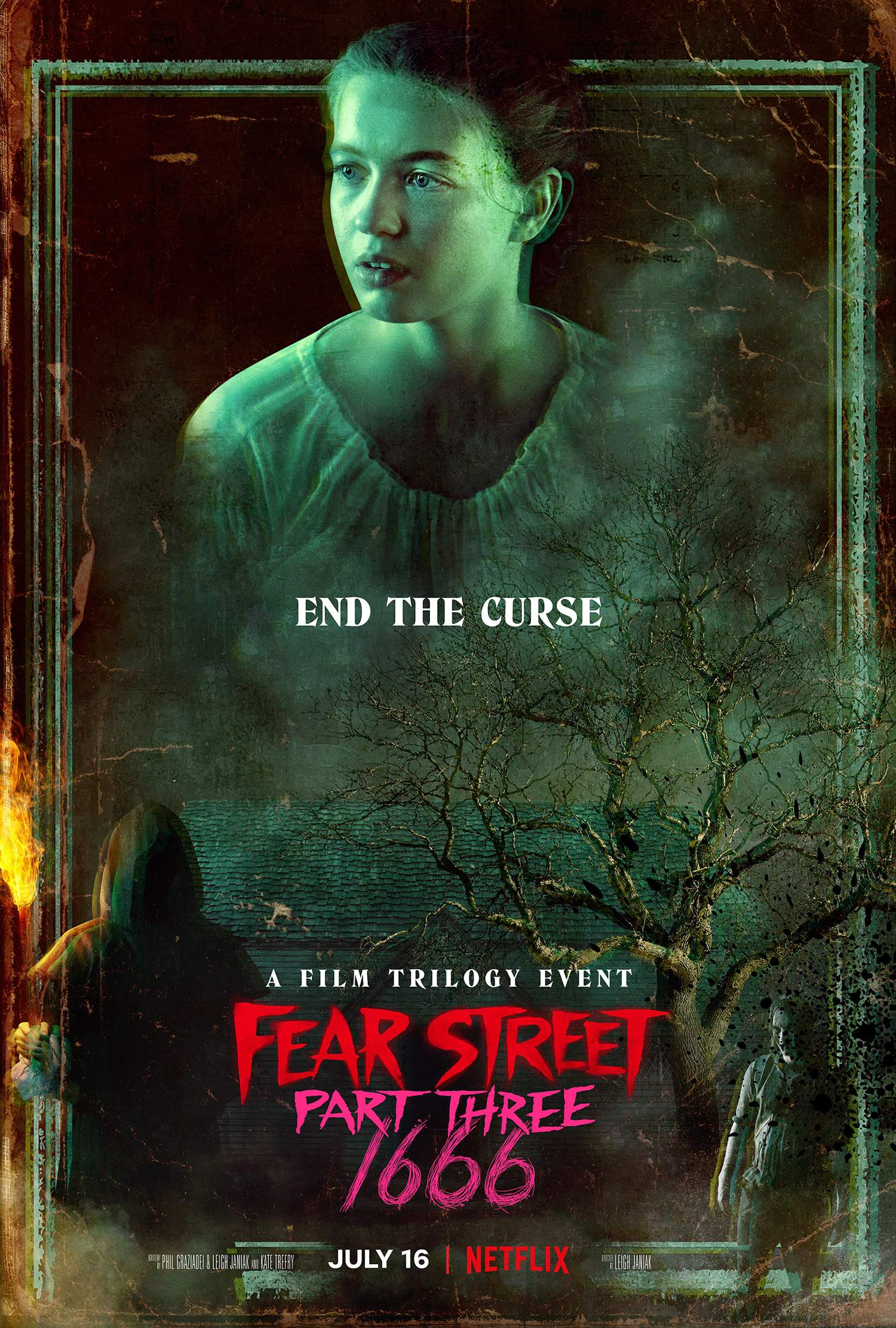 Movie Poster for Fear Street Part Three 1666 featuring Olivia Scott Welch