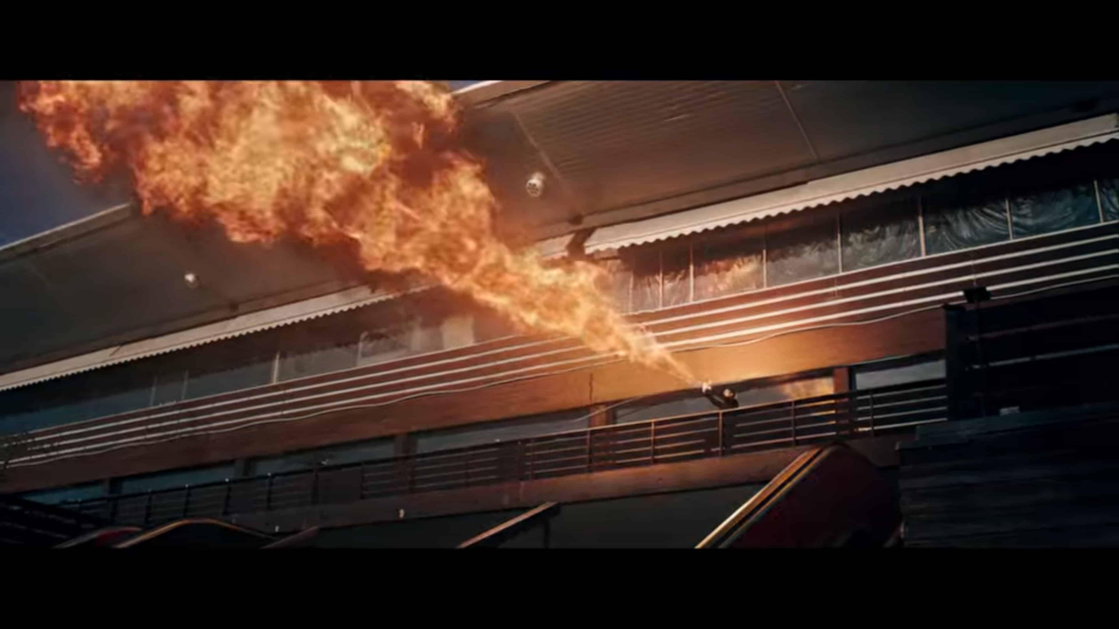 Naja using fire powers