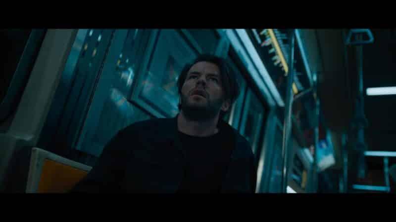 Nathan (Thomas Cocquerel) shocked as the escape room begins