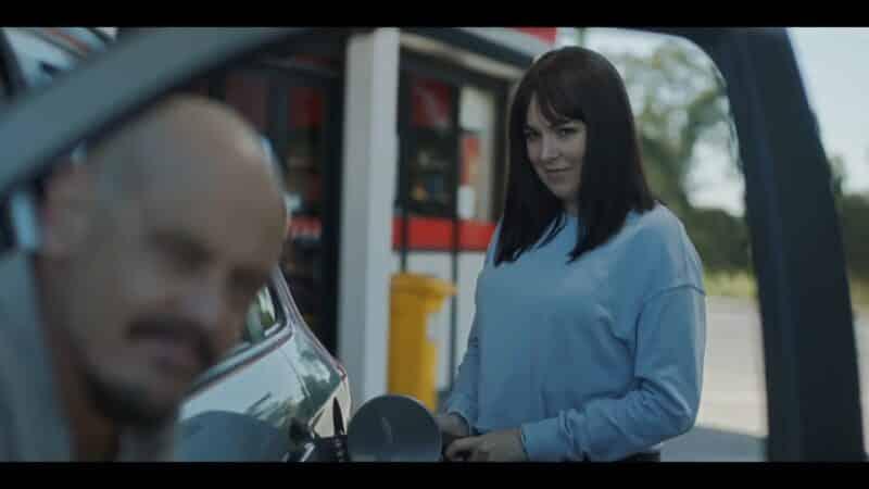 Zoe pumping gas