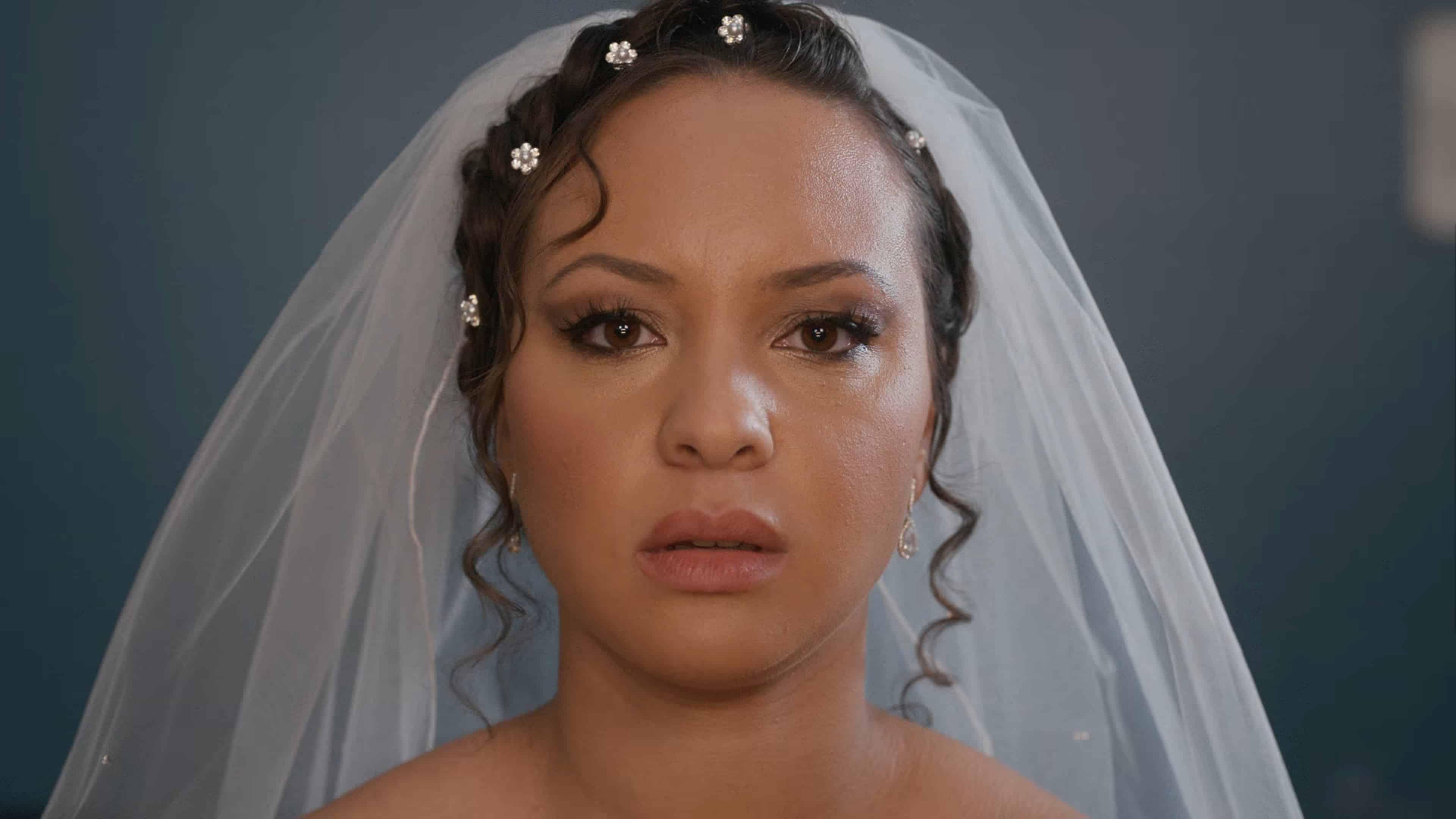 Ashley in bridal attire