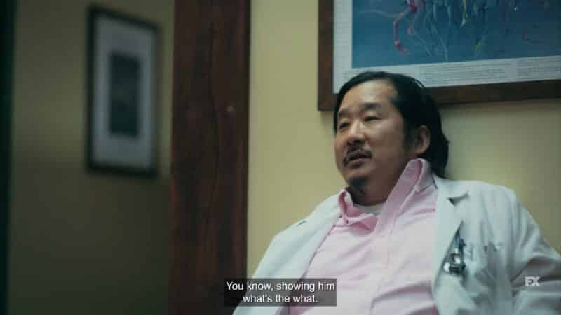 Dr. Kang (Bobby Lee) trying to flirt with Rita