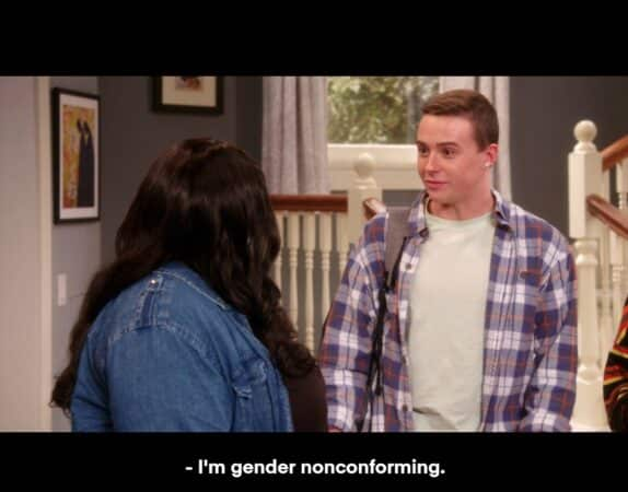 Jesse (Josh Dunn) noting they are gender nonconforming