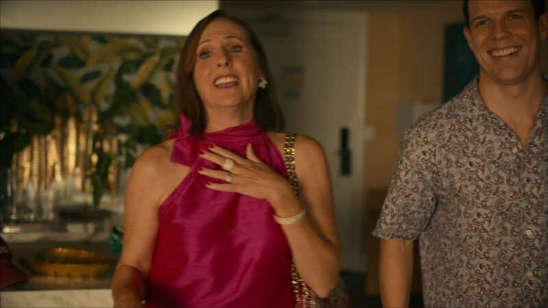 Kitty (Molly Shannon) and Shane after Armand surprises Shane and Rachel with Kitty's arrival