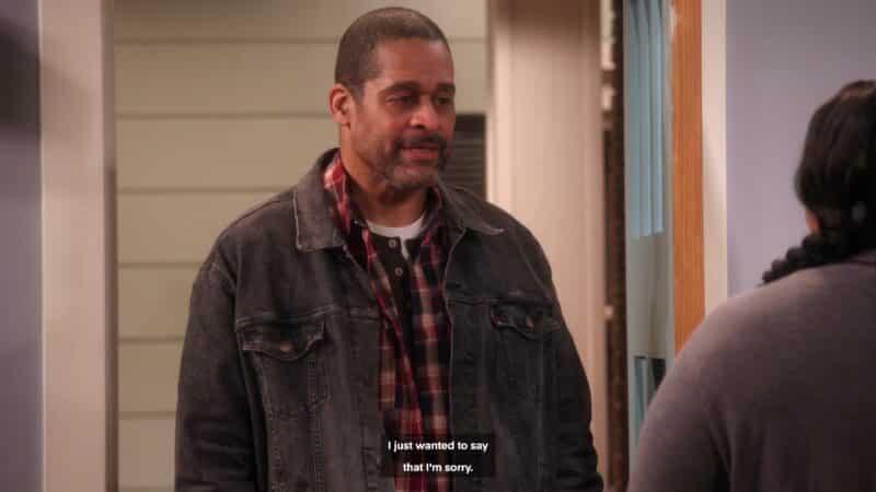 Lloyd (Leland Jones) apologizing to Ms. Pat in a fantasy