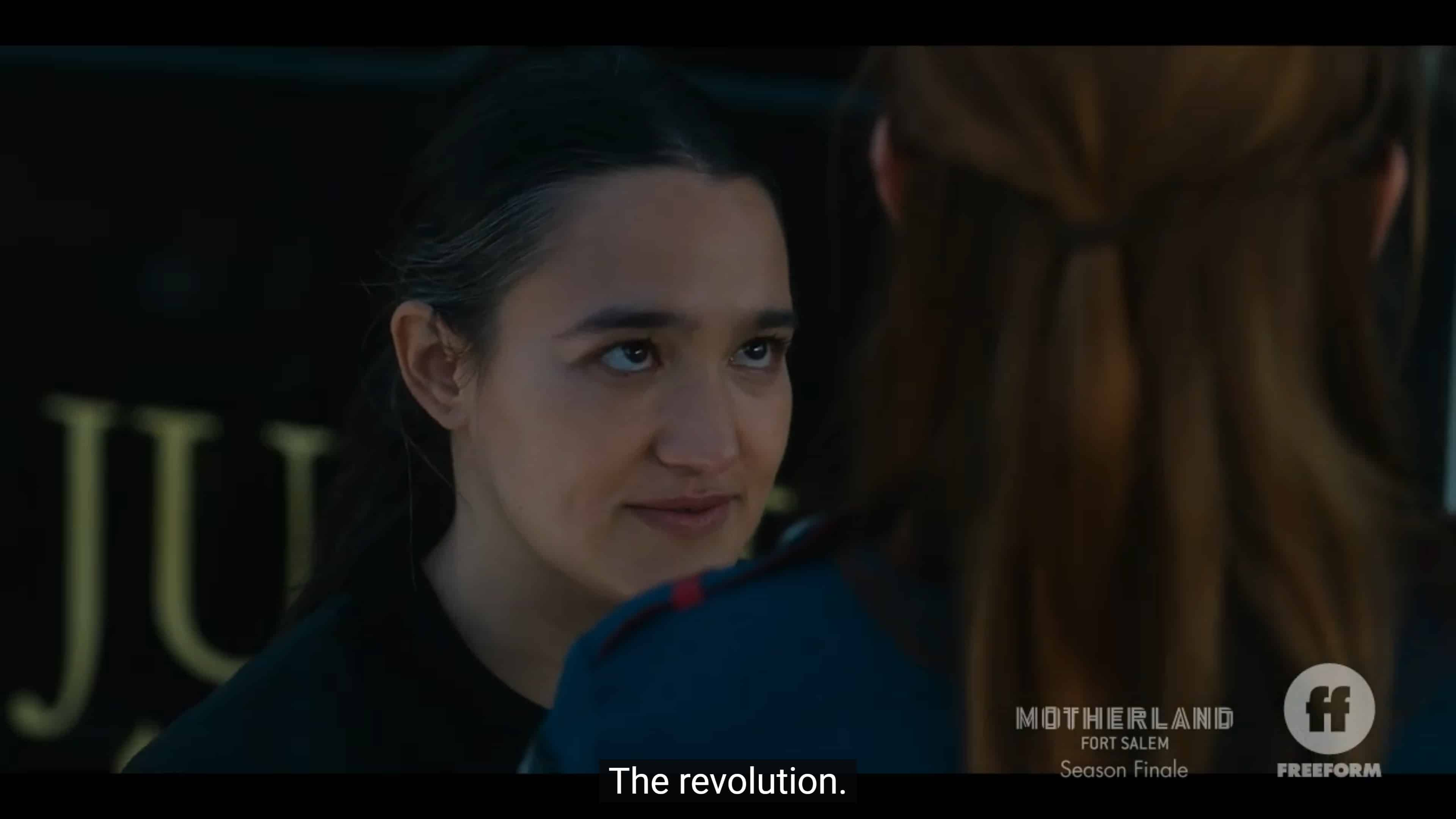 Nicte noting she believed Tally wanted a revolution