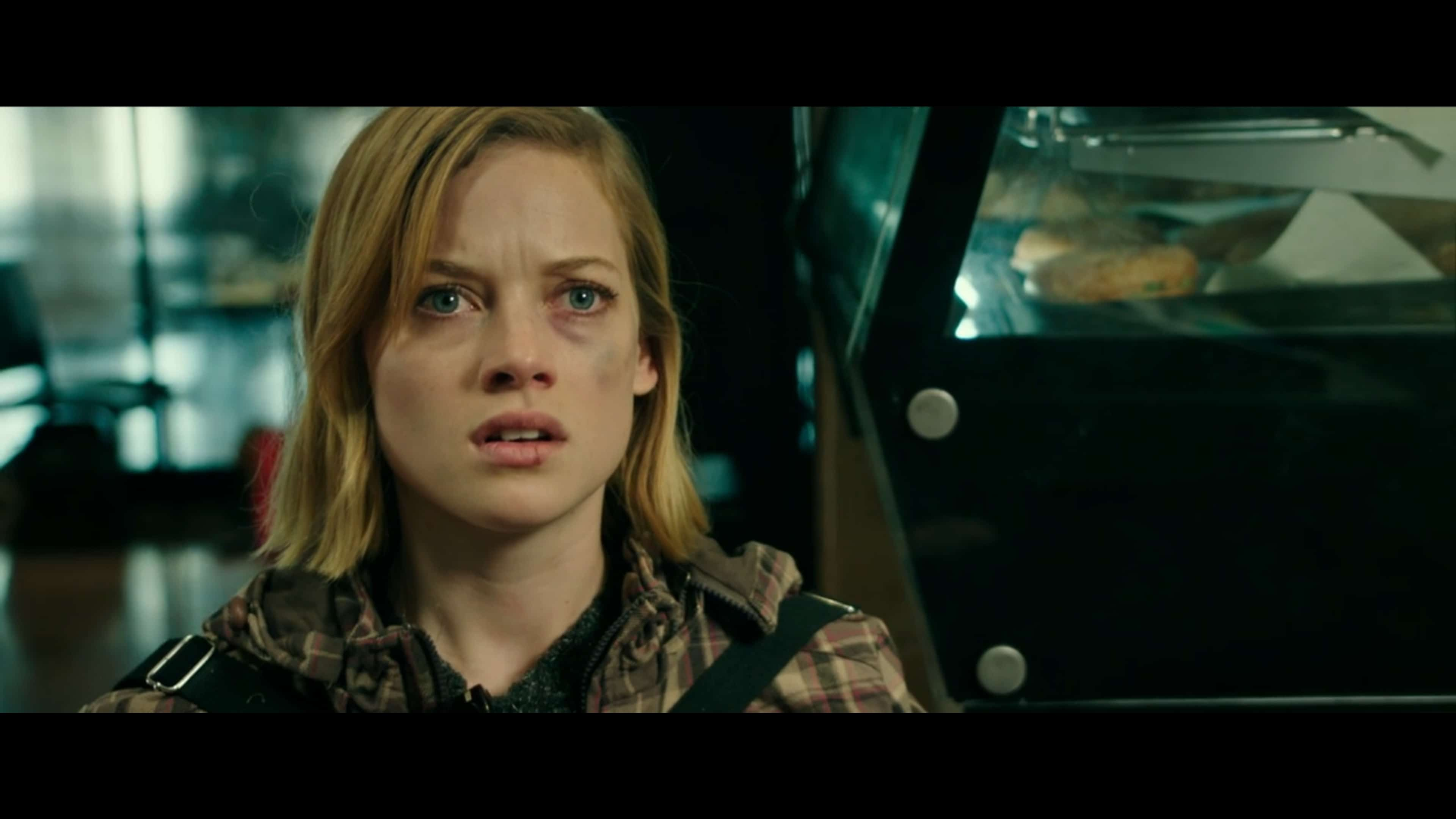 Rocky (Jane Levy) learning The Blind Man lived after all that happened