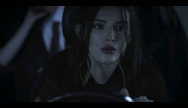 Rose (Bella Thorne) driving Michael and Olivia home