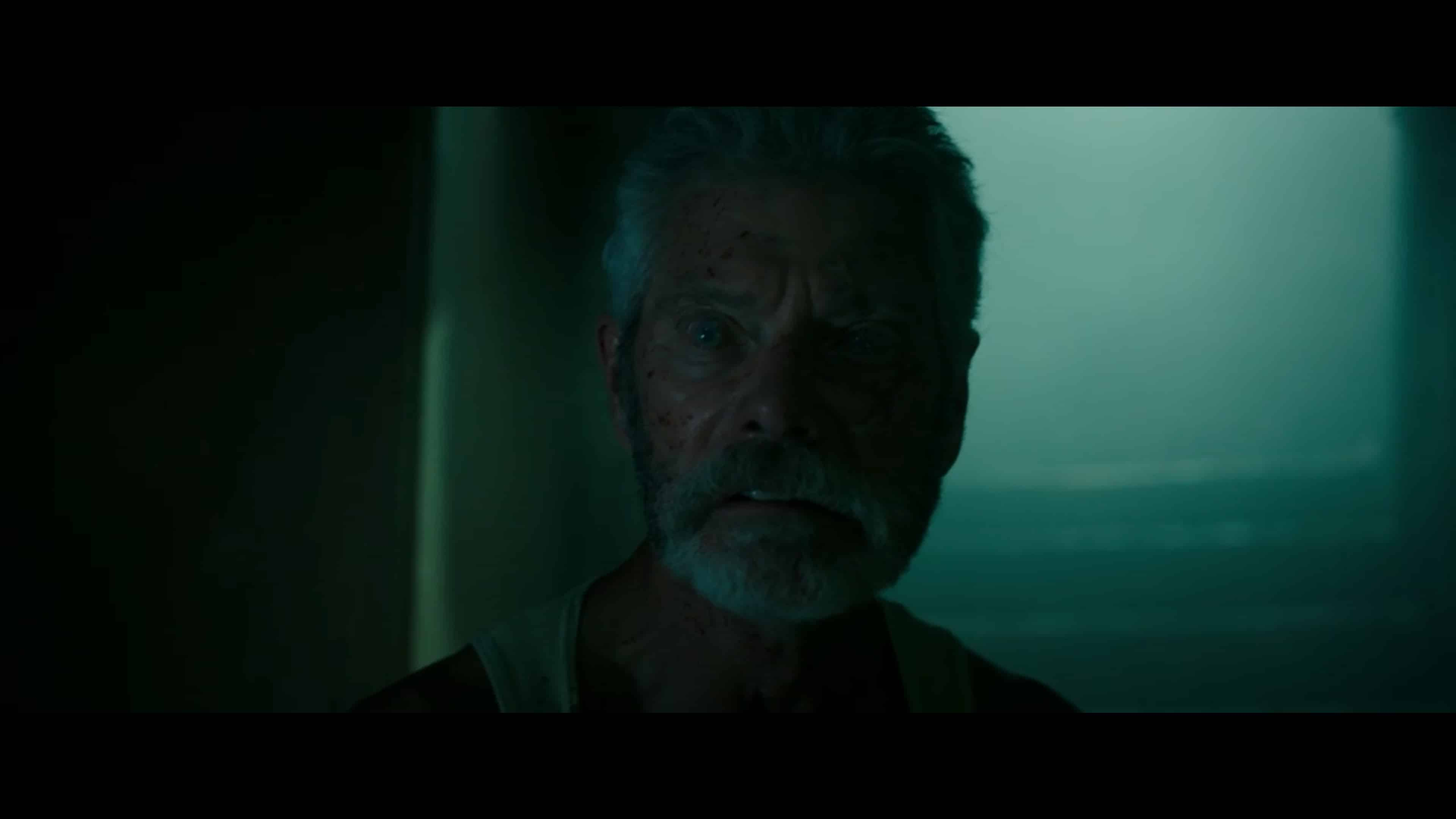 The Blind Man (Stephen Lang) looking for intruders