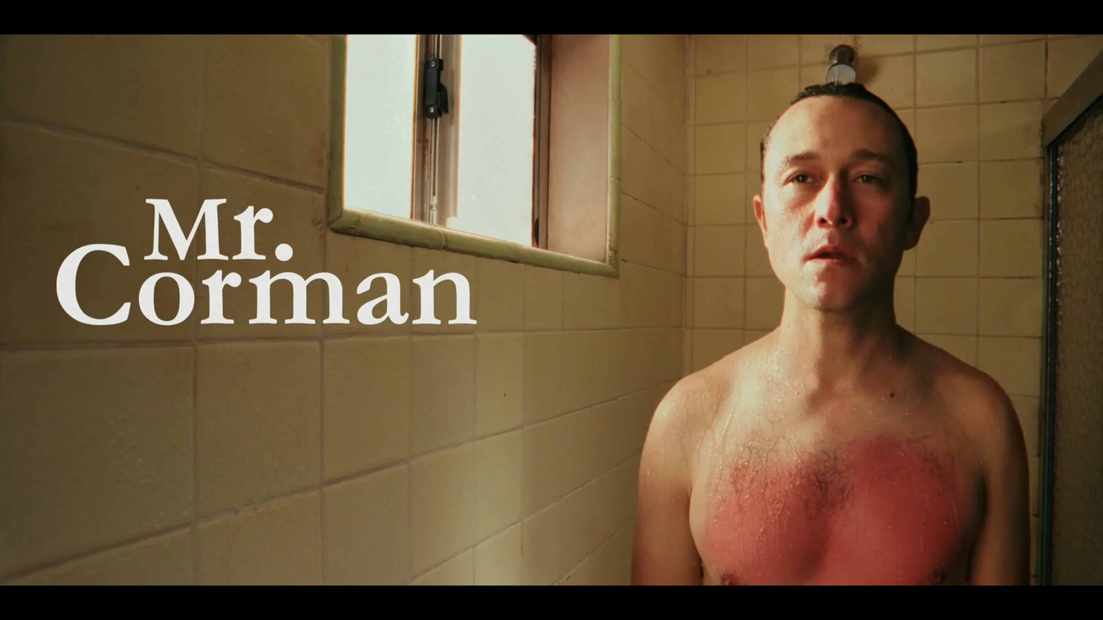 Mr. Corman in the shower