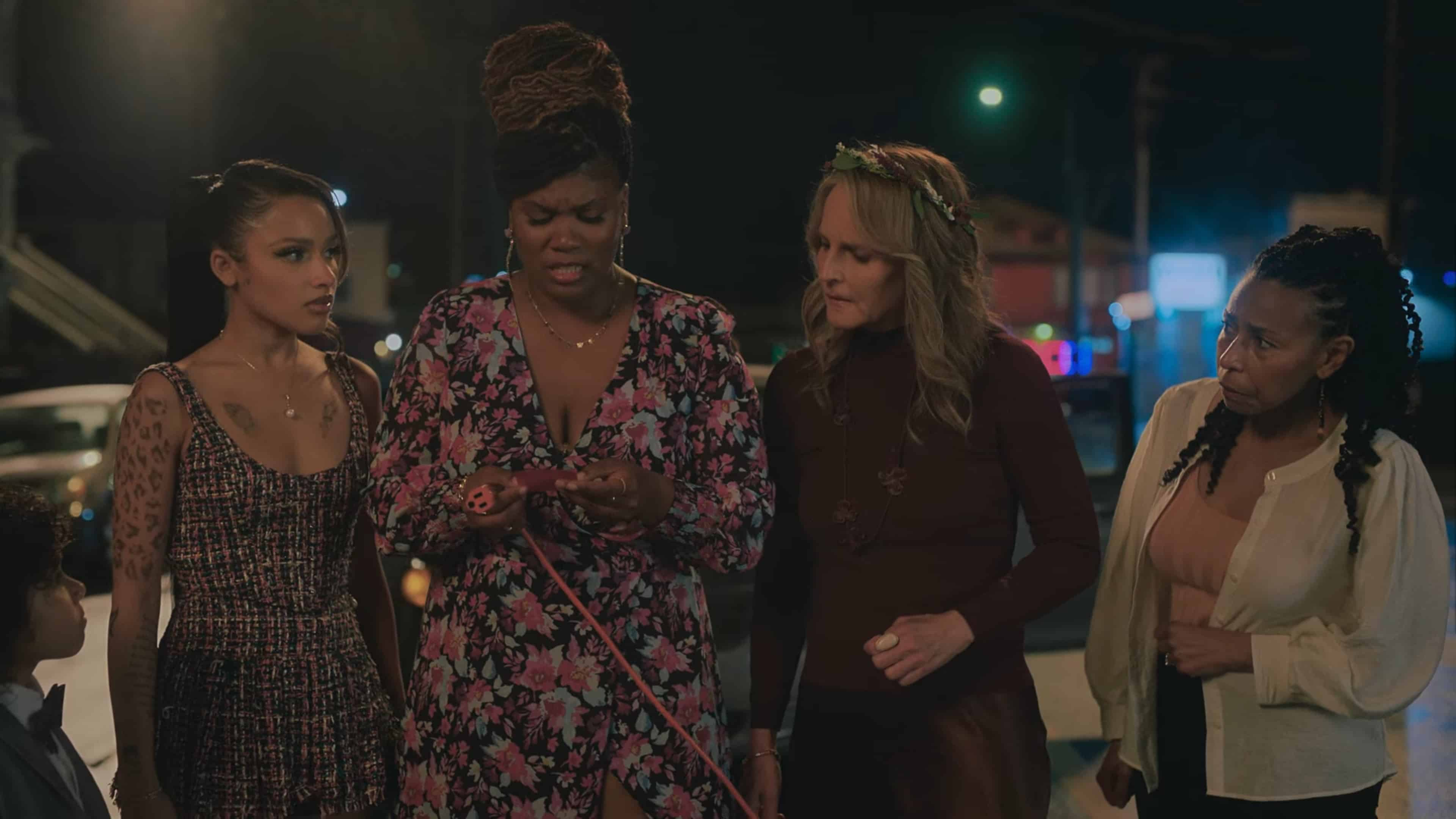 Trish, Janelle, Rainey, and Nancy realizing that Earl is gone
