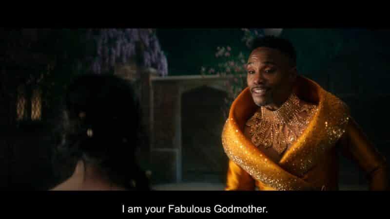 Fabulous Godmother (Billy Porter) introducing themselves