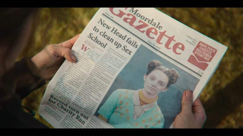 Lily in the newspaper