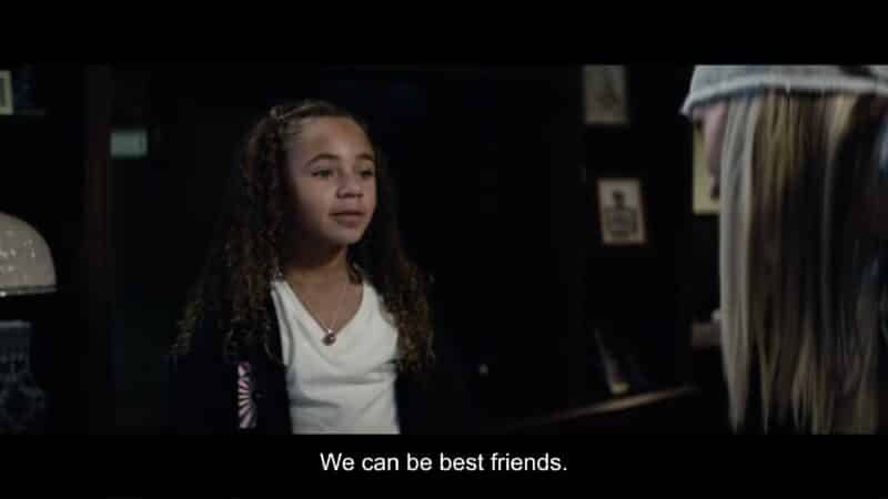 Magic (Jaliyah Manuel) talking to Shelby about becoming friends