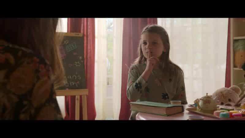 Morgan (Atarah Vecchione) saying she'll keep Cassie's secret