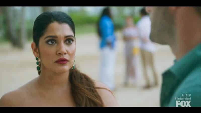 Nisha (Anuja Joshi) seeing Josh and looking shocked