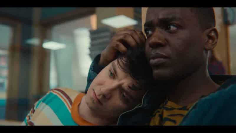 Eric consoling Otis