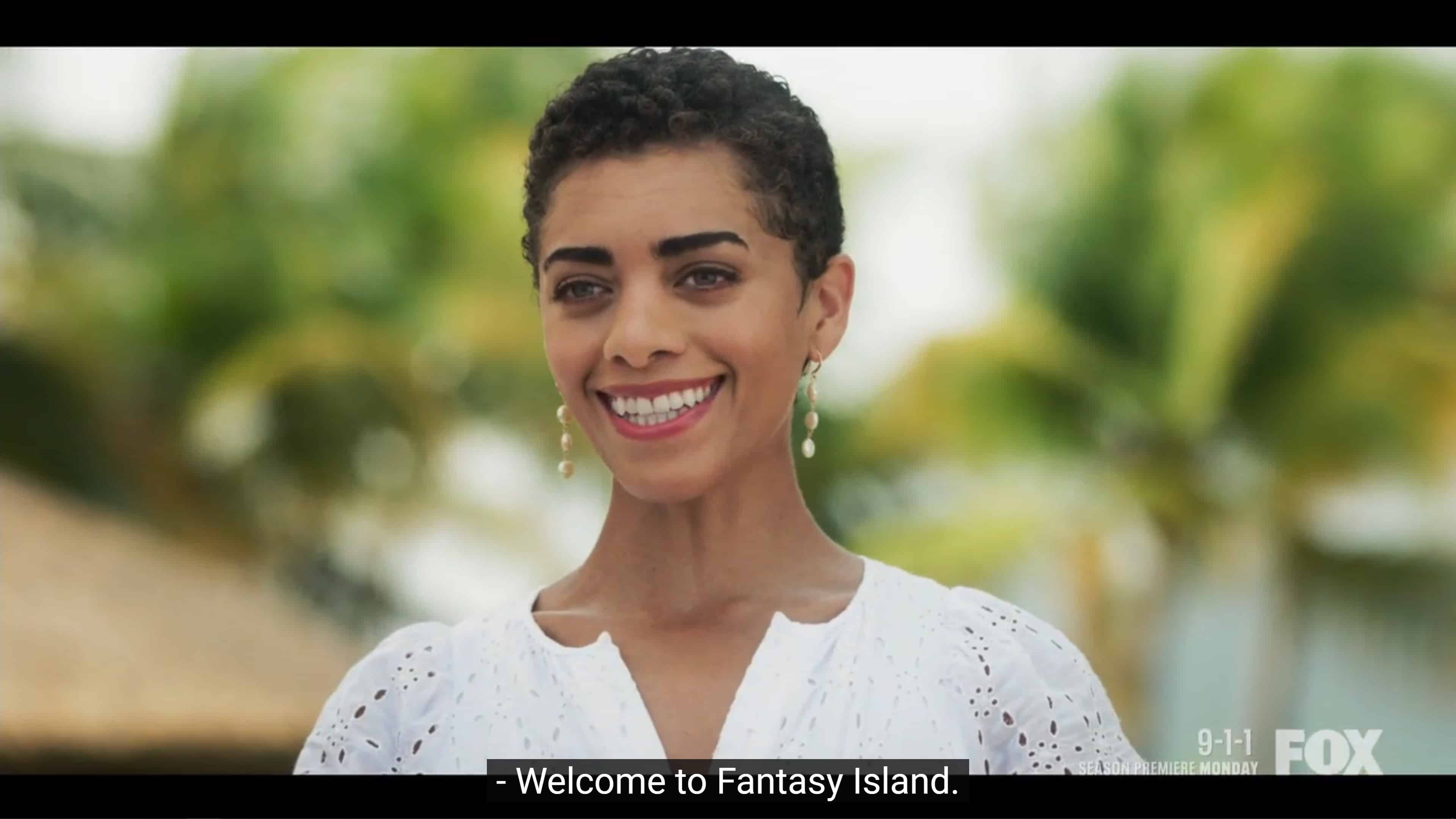 Ruby welcoming Isabel to Fantasy Island