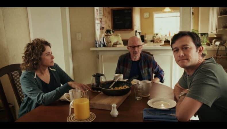 Ruth, Larry (Arliss Howard), and Josh having breakfast