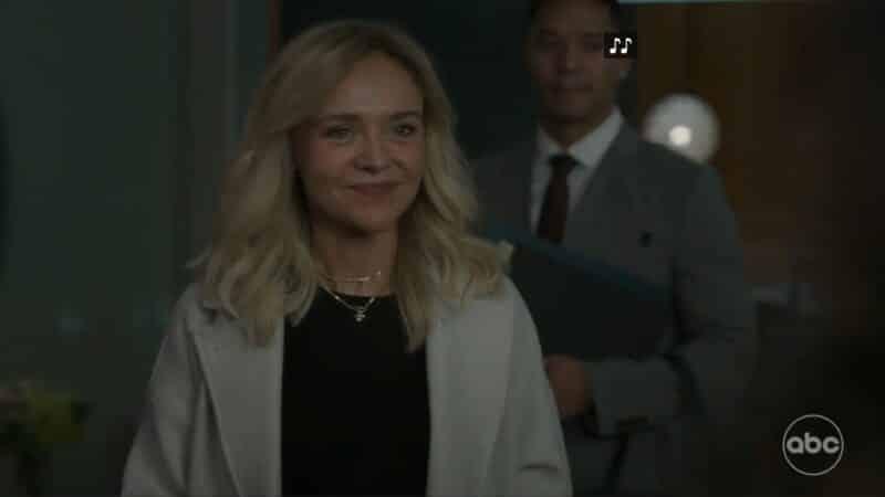 Salen (Rachel Bay Jones) introducing herself as someone beyond a patient, but a new co-worker