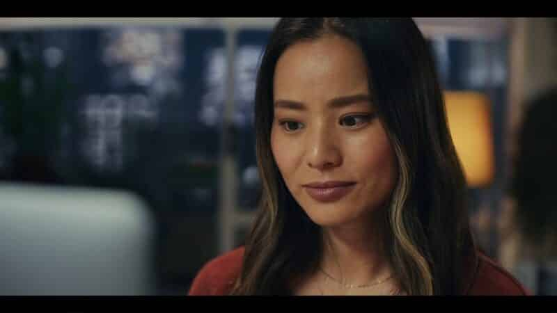 Emily (Jamie Chung) on a ZOOM call with Josh